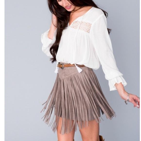 18b7c1058f Show Me Your Mumu Rancho Fringe Mini Skirt